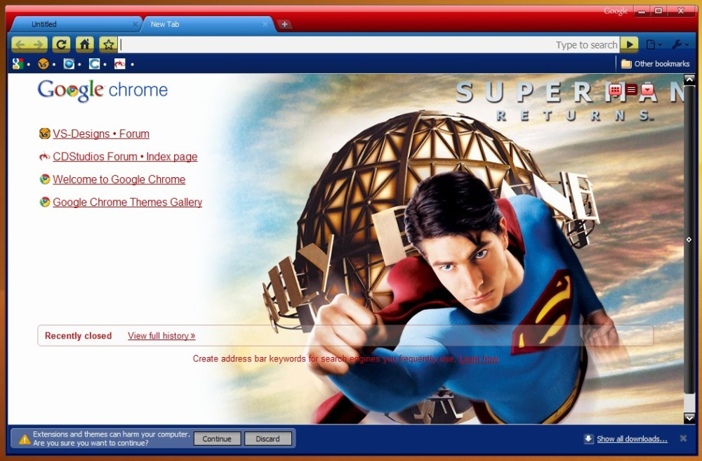 5 teme cu super eroi pentru Google Chrome (2/5)