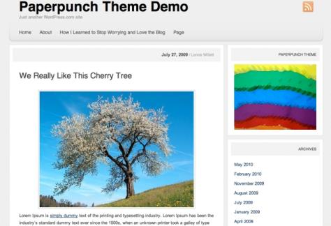 Paperpunch theme