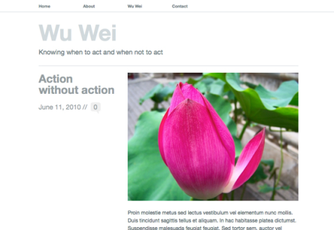 Wu Wei theme
