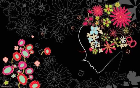 Black flower girl design