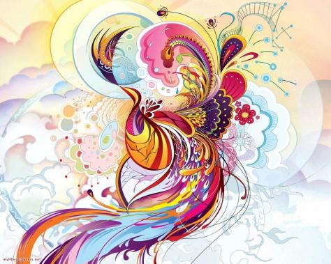 Cool colorful art pattern