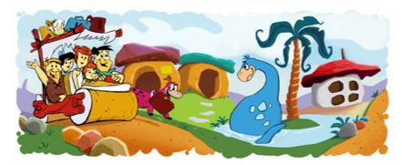 google-familia Flintstone