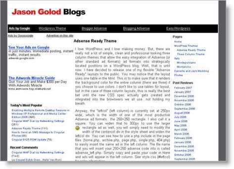 Adsense Ready WordPress