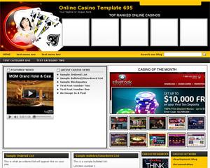 Online Casino Template 695