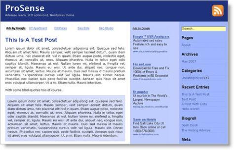 prosense wordpress theme