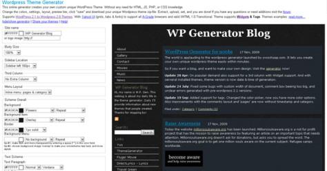 wp theme generator