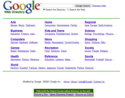 google directory system picture 1
