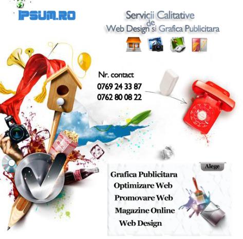 web design grafica publicitara